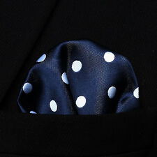 Einstecktuch Blau Weiss Polka dots-Pocket Square-pañuelo de bolsillo