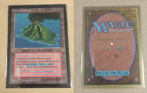 MTG VOLCANIC ISLAND COLLECTOR'S EDITION - EXC - SEE PIC - BEAUTIFUL!