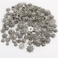 45g (about 150pcs) Mixed Tibetan Silver Bead Caps Spacer For Jewelry making SO