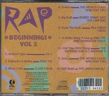 "ICE T- 2 LIVE CREW- KING TEE- & OTHERS  ""Rap Beginnings Vol. 2""  NEW RAP CD"