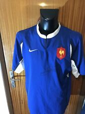 Maillot Rugby Ancien Equipe De France Signé Taille XL