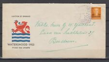 Netherlands 1953 NVPH # 601 FDCcover to Bussum