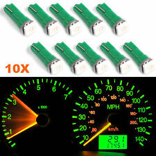 10X T5 73 37 17 58 Wedge Green 1-SMD LED Gauge Cluster Lights Speedometer Bulbs