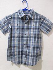 NWT Gap Kids Boys Blue Plaid Button Down Shirt XS 4-5