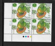 1995 SOLOMON ISLANDS - PAW PAW - CORNER BLOCK WITH TRAFFIC LIGHTS - MNH.