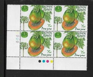 1995 SOLOMON ISLANDS - PAW PAW - CORNER BLOCK WITH TRAFFIC LIGHTS - MNH.