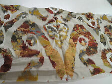 Taylor King Fabric Pattern Holika Color Red 21 In x 54 In Upholstery Ikat Type