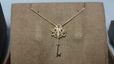 "Welsh Clogau Silver & Rose Gold Kensington Key Pendant 17"" Chain RRP £129"