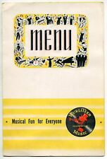 """Old Wurlitzer Music """"Menu"""" Folder - Possibly Used In Diner With No Remote"""