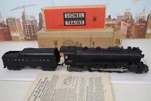 Vintage Postwar Lionel O Gauge No.736 Berkshire Steam Engine & Tender With Boxes