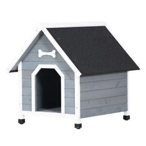 Dog House Wood Outside Dog Kennel Waterproof 30.7*33.1*32.8 Inch
