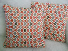 """COLE BY ROMO 1 PAIR OF 18"""" CUSHION COVERS - DOUBLE SIDED /PIPED/ZIPPED"""