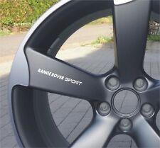 6x Range Rover Sport Aufkleber Land Rover für Räder, Außenspiegeln Emblem Logo