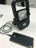 Rechargeable Portable LED Work Light / Lamp w USB Port Recharge Phones & Tablets