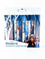 DISNEY FROZEN II CRAYONS 24 Pack Elsa-Anna-Olaf Characters New In Box
