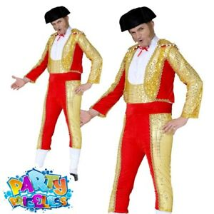 Adult Mens Bullfighter Costume Matador Spanish Mexican Fancy Dress Outfit