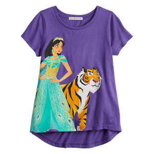 "Disney's Aladdin Girls 7-16 ""On Top of the World"" Jasmine Tee, Size Large"