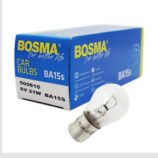 10 x Lampe Birne Bosma BA15s 6V 21W Premium E-Geprüft für Rücklicht Blinker etc.