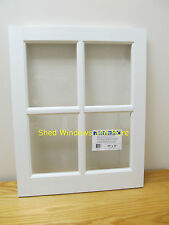 "Barn Sash Window PVC 20"" x 25""  Sheds Garages New White Traditional Style"