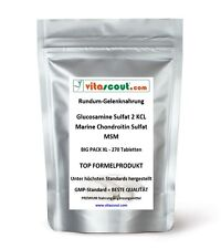 Glucosamine Sulphat 2 KCL - Marine Chondroitin Sulphat - MSM - 270 Tabletten