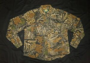 Cabelas For Women Seclusion 3D Hunting Outdoors Camo Denim Button Front Shirt M