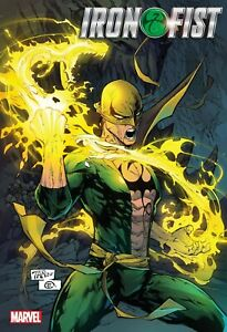 """Iron Fist Heart of the Dragon 24"""" x 36"""" Folded Promo Poster Marvel 2021"""