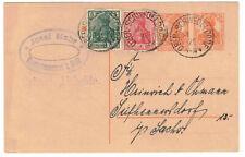 Ganzsache P119 Mahr Oberschwedeldorf b Glatz 1920 Bahnst. Altheide Stempel BP(B7