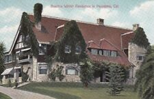 Old Postcard A171 Litho Divided Buschs Winter Residence in Pasadena California