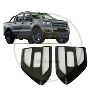 SIDE VENT GRILLE COVERS SATIN BLACK LOOK PAIR FITS FORD RANGER T6 16-18