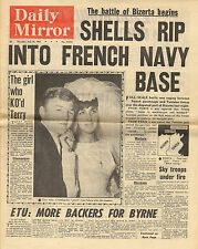 "daily mirror july 20th 1961 "" battle of bizerta "" & terry spinks marries !"