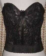 Goddess Black Boned Lace Corset Bra Size 38 B Style GD0689BK