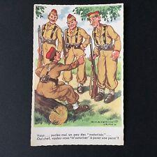 CPA Ancienne Humoristique Chaperon Soldats Vintage Postcard PC