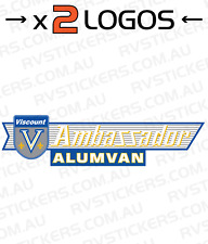 2x VISCOUNT AMBASSADOR ALUMVAN LARGE Caravan decal, sticker, vintage, graphics