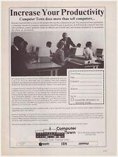 Original 1985 Computer Town Training Center Salem, NH Vintage Print Ad