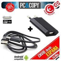 Cargador USB de pared con cable para Samsung Galaxy J5 negro 5V 1A