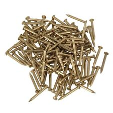 15mm Round Head Antique Furniture  Brass  Miniature Nail Pack of 100
