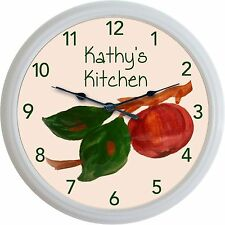 Franciscan Apple Wall Clock Custom Personalized Kitchen Image New 10""