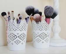 Make Up Brush Holder Pot White  / Candle Holder