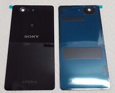 Sony Xperia Z3 compact D5803  Akkudeckel Backcover schwarz mit Klebestreifen