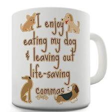 Twisted Envy Life-Saving Commas Grammar Ceramic Funny Mug