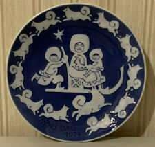 Royal Copenhagen White and Cobalt Mors Dag 1974 Mothers Day 6� Collector Plate