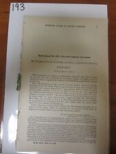 Gov Report 1888 Senate 56th Congress 1st Session letter carriers payment  #193