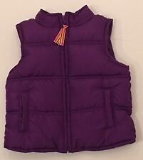 Crazy 8 Vest Girls Size 4 Purple Puffer Rainbow Tassel
