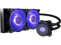 Cooler Master MasterLiquid Lite ML240L RGB AIO CPU Liquid Cooler Sleeved FEP Tub