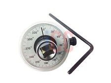 """Dial torque gauge angle degrees 1/2"""" drive tork tighten head bolts wrench nuts"""