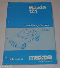 Werkstatthandbuch Mazda 121 Elektrik / Schaltpläne / Verkabelung, Stand 03/1996