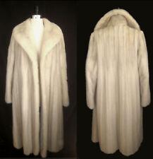 Glamorous AZURENE Cream MINK FUR Long Coat Jacket ~ Luxury Bridal