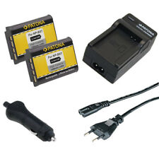 2x Batteria Patona + Caricabatteria casa/auto per Sony HDR-AS10,HDR-AS100V