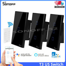 Sonoff T3 US Wifi Smart Home Wall Touch Light Switch RF Voice APP Remote Control