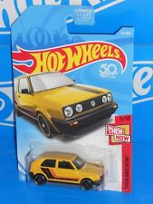 Hot Wheels 2018 Then And Now #171 Volkswagen Golf MK2 Yellow w/ ST8s